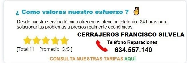 cerrajeros Francisco Silvela precios